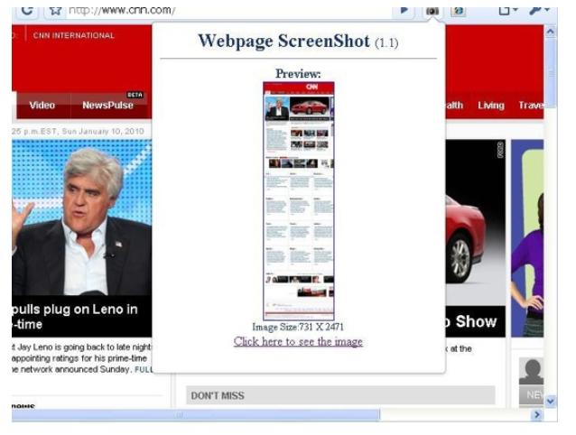 Webpage Screenshot para capturar una página web en imagen
