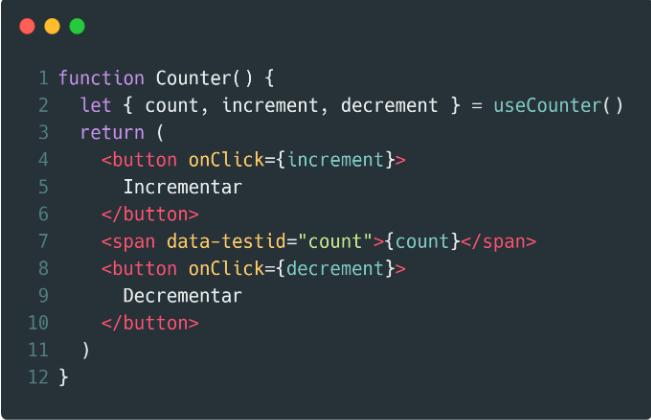 Componente que implementa el Hook.