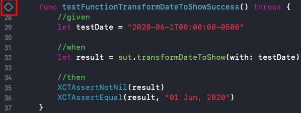 Testeando una función iOs 2