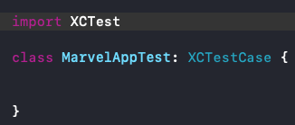 Componentes de XCTest Class 1