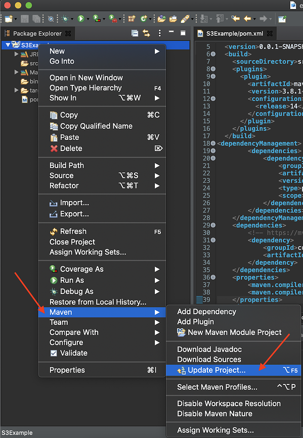 Configurar AWS SDK para Java 7