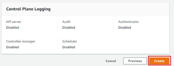 Crear cluster EKS Consola administrativa de AWS 4