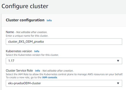 Crear cluster EKS Consola administrativa de AWS 1