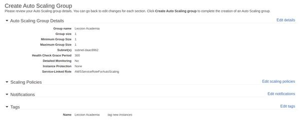 Cómo configurar grupos de Auto Scaling 16