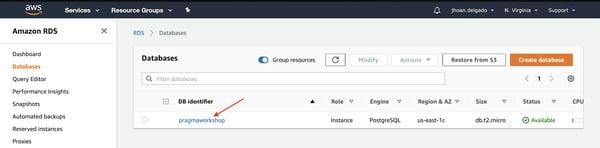 Instancia de base de datos de PostgreSQL Amazon RDS 15