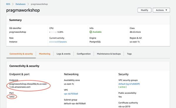 Instancia de base de datos de PostgreSQL Amazon RDS 16