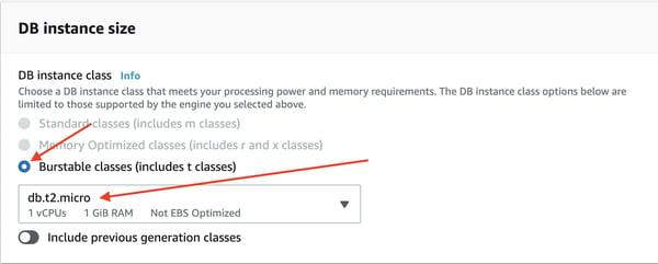 Instancia de base de datos de PostgreSQL Amazon RDS 8