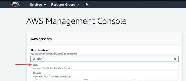Instancia de base de datos de PostgreSQL Amazon RDS 1