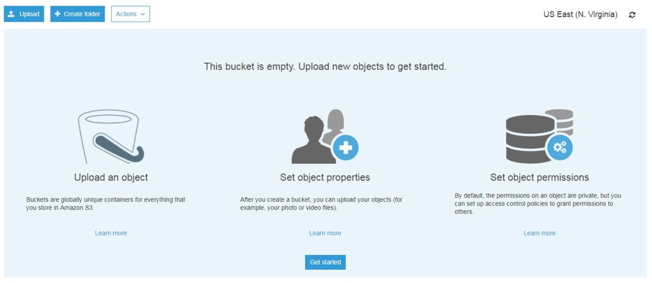 Subir archivos a un bucket