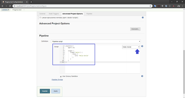 Construcción de una pipeline en Jenkins para un microservicio Java 10