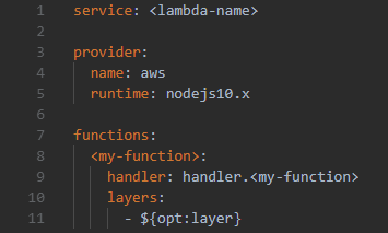 Layer en Serverless y Nodejs