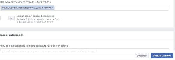 Pasos Configurar Firebase con nuestra aplicación de Facebook