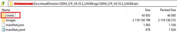 Instalar una versión ODM Helm release