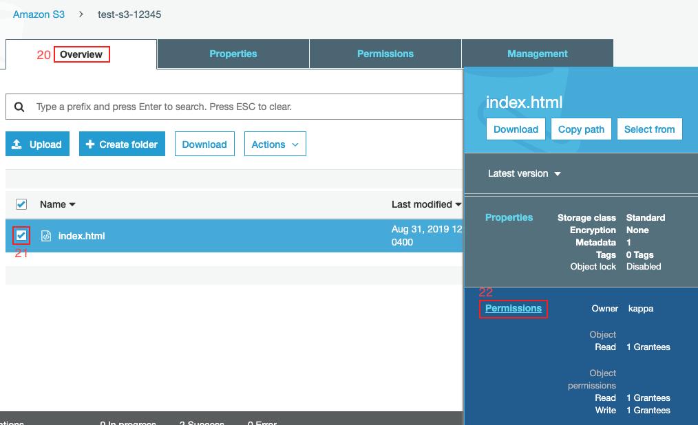 Publicar web S3 Amazon Web Service paso10