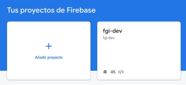 Para efectos del paso a paso se asume que la cuenta de Firebase ya se tiene creada, a continuación se procede a agregar un proyecto