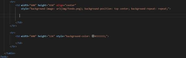 Desarrollo de un Correo Electrónico HTML 7