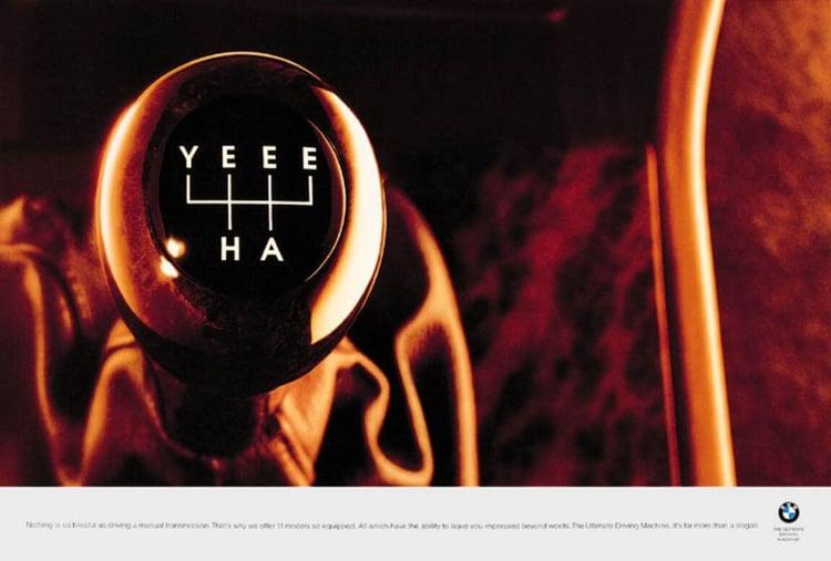 onomatopeya y creatividad publicidad BMW