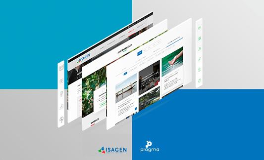 Diseño web Isagen Pragma