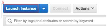 seleccionamos el botón Launch Instance