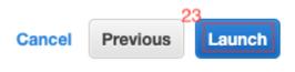 seleccionamos el botón Launch Instances y con esto iniciará la creación de nuestra instancia.