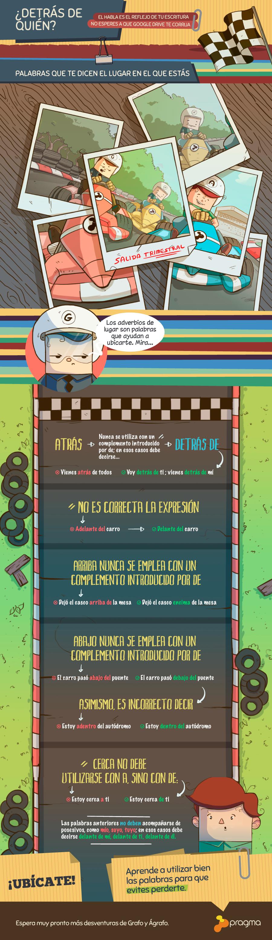 adverbios de lugar infográfico