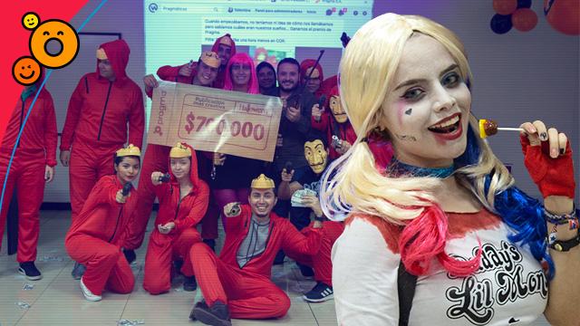 Casa de locos en Halloween