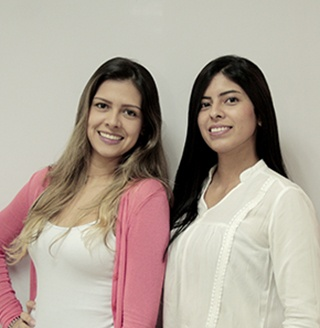 Yhennyfer Gómez y Maribel Palacio