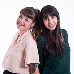 Viviana Montoya y Sara Botero
